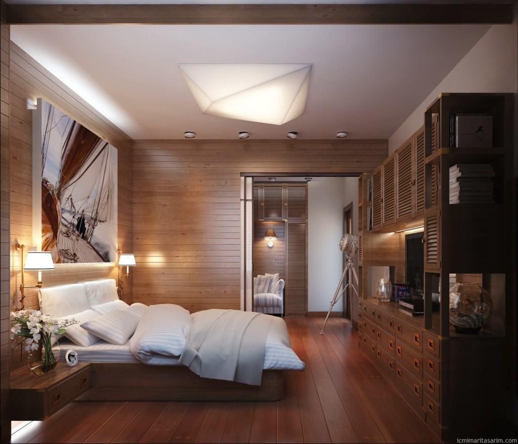 Деревянная вагонка в дизайне жилого помещения