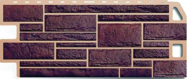 На изображении показан цокольный сайдинг «жженый камень»