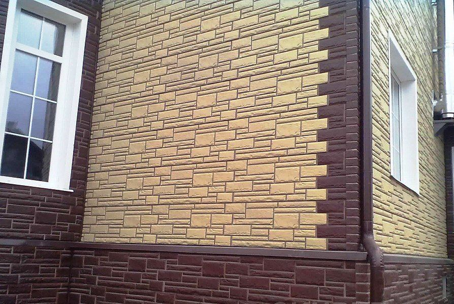 Облицовка фасада цокольным сайдингом