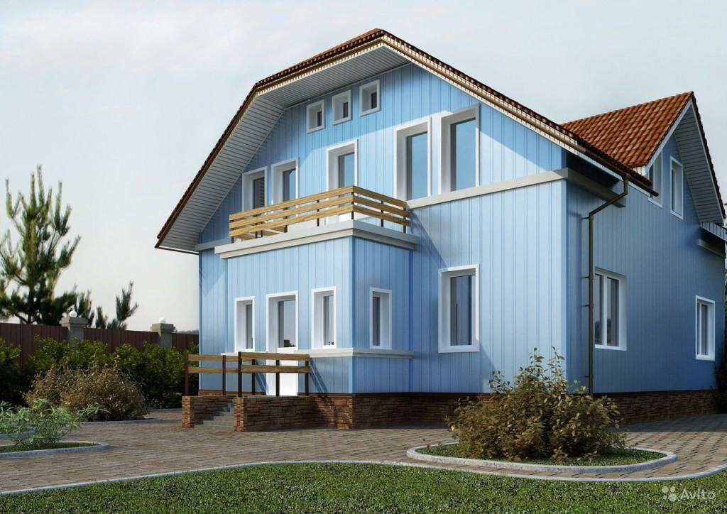 Облицовка фасадов зданий: сайдинг вертикальный