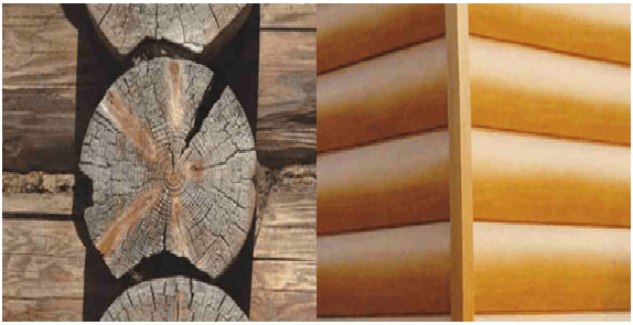 Привлекательный внешний вид бруса создает впечатление натурального дерева