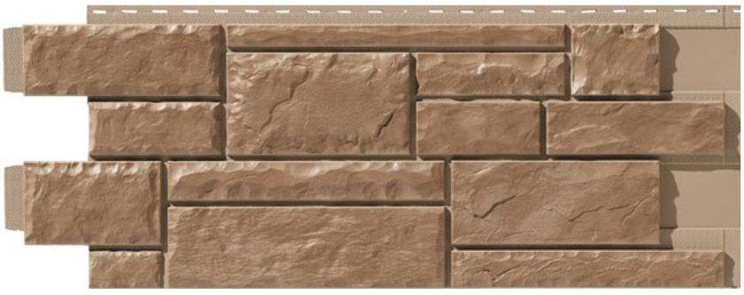 Цокольный металлический сайдинг: рельеф по камень