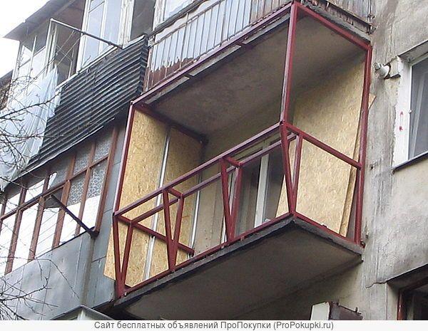 Внешняя отделка сайдингом балкона: рама под остекление и обшивку