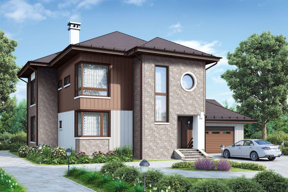 Декорирование фасада горизонтальными и вертикальными панелями