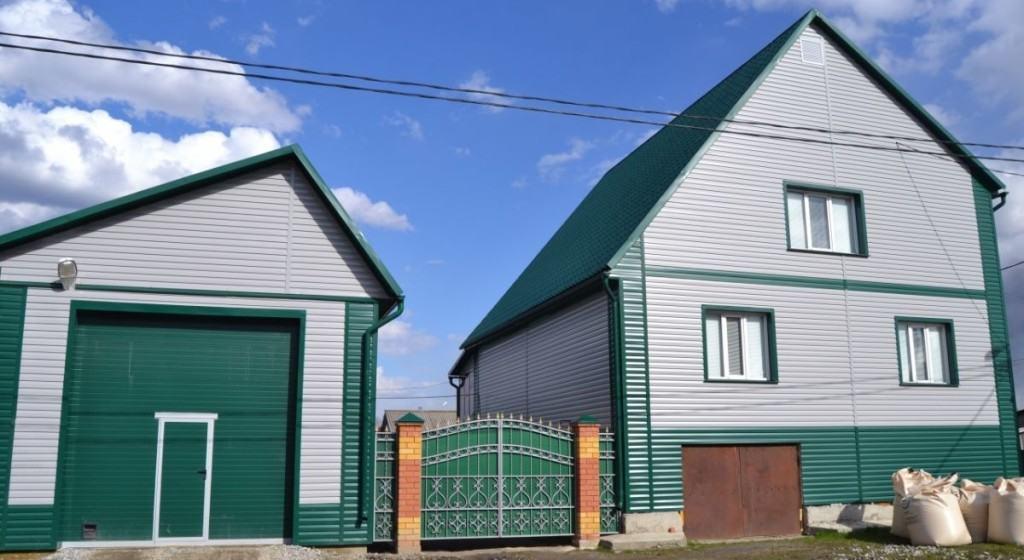 Дом и гараж под сайдинг
