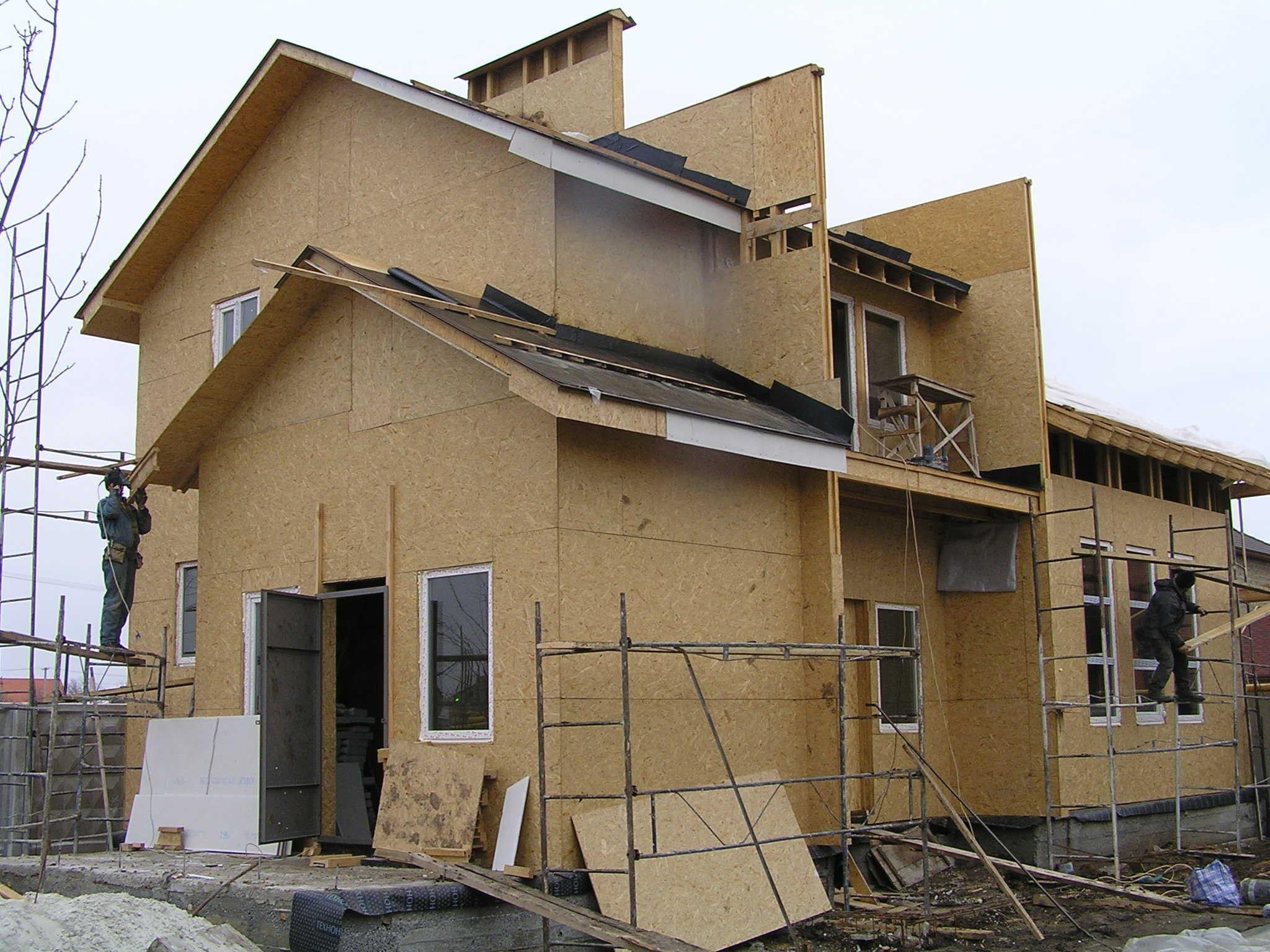 Отделка фасада дома деревянной вагонкой