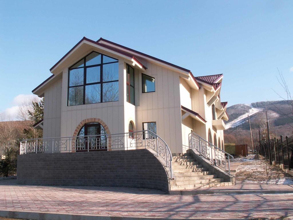 Керамосайдинг «Ничиха» в дизайне фасада
