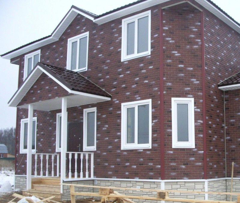 Сайдинговые панели под кирпич: оригинальное и недорогое оформление фасада