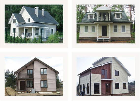 Варианты оформления фасадов