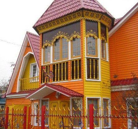 Оригинальное оформление дома металлосайдингом