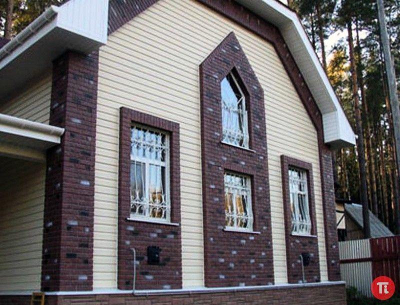 Отделка бревенчатого дома сайдингом