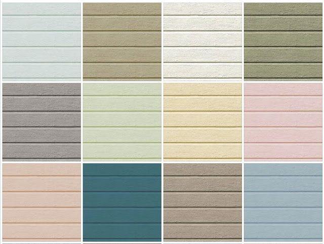 В зависимости от производителя, сайдинг-панели того или иного вида обычно представлены в 15-20 расцветках.