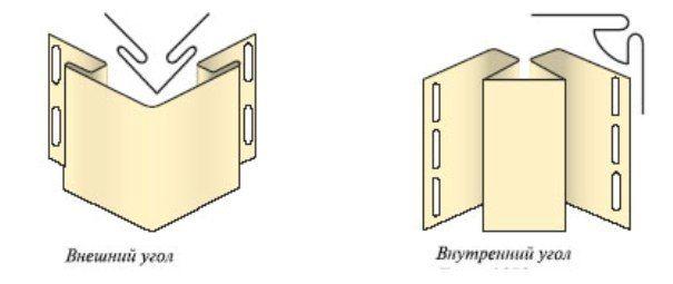 Оформление углов производится, используя угловой сайдинг профиль.