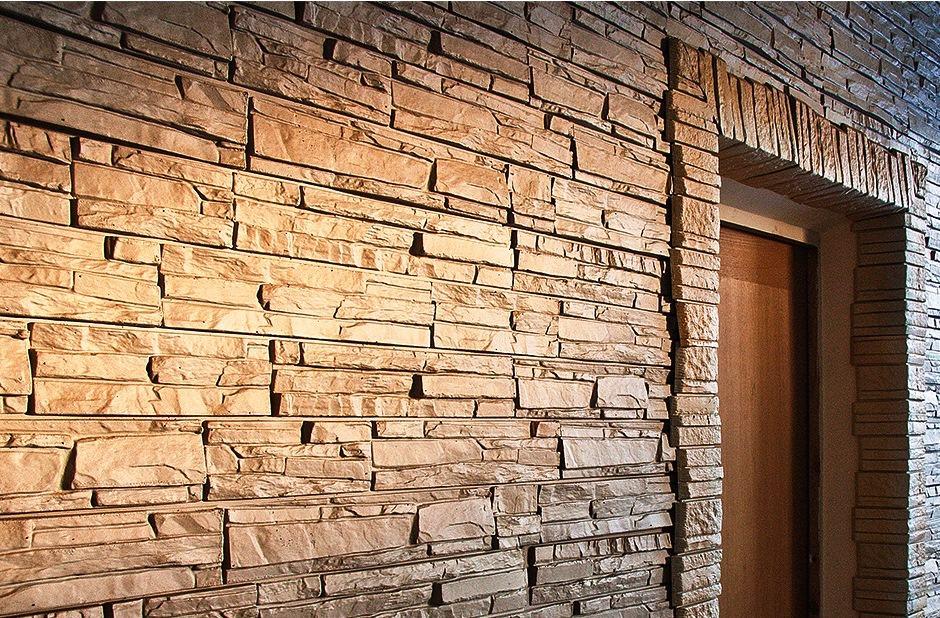 Сайдинг имитирующий природный камень одинаково подходит как для наружных, так и внутренних работ