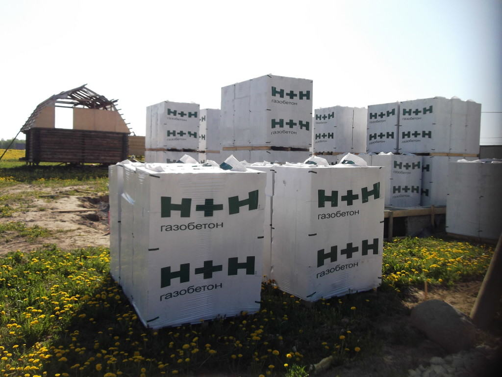 Упакованные газобетонные блоки
