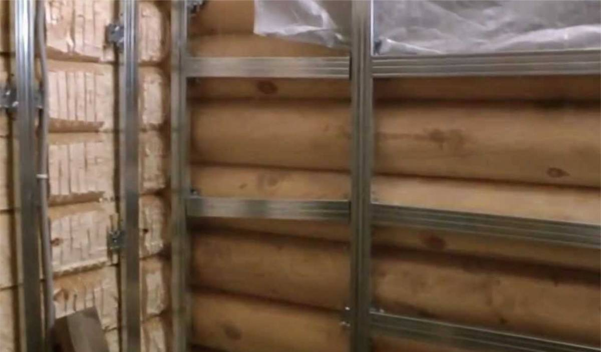 Как обшить деревянный дом гипсокартоном своими руками видео