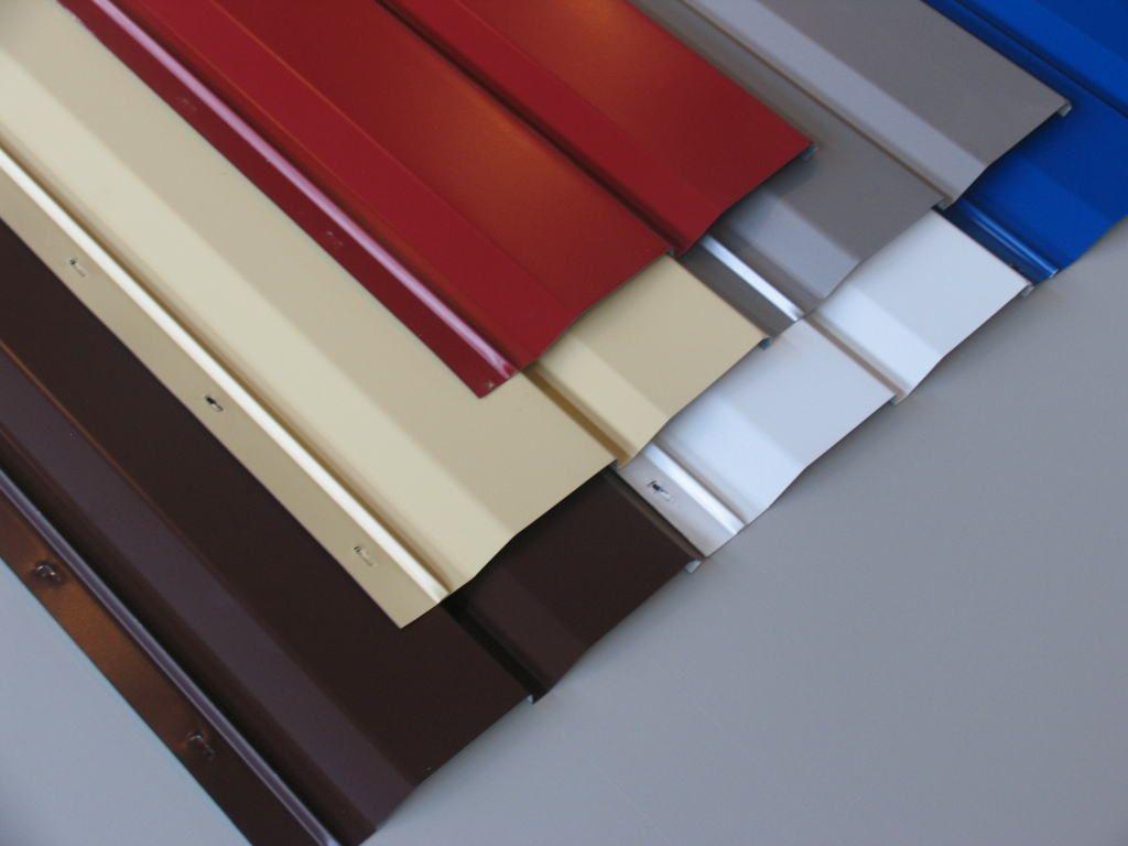 Металлический сайдинг различных цветов