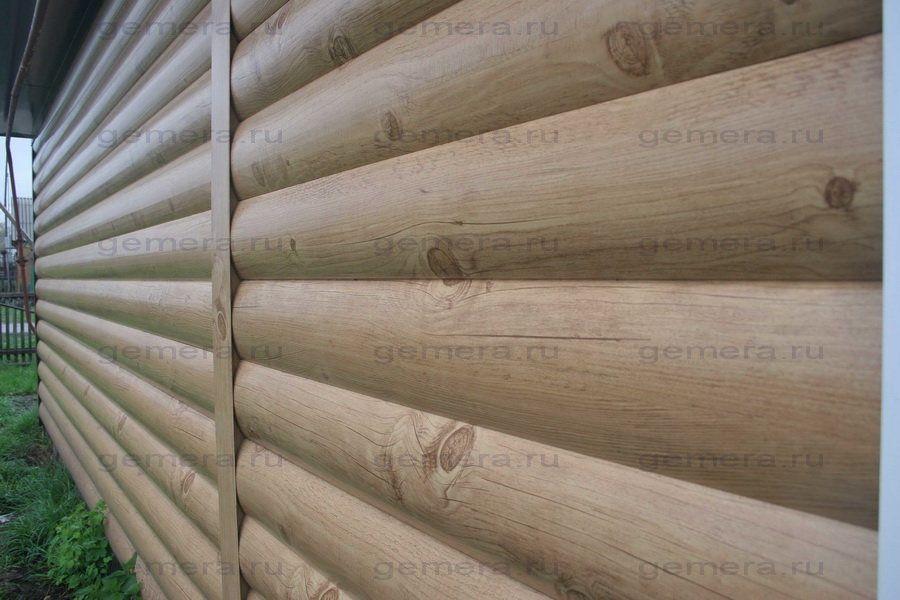 Сайдинг, имитирующий оцилиндрованный деревянный брус