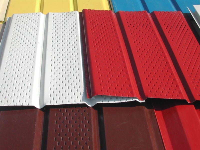 Софитный сайдинг с перфорацией, специально разработанный для подшивки карниза крыши