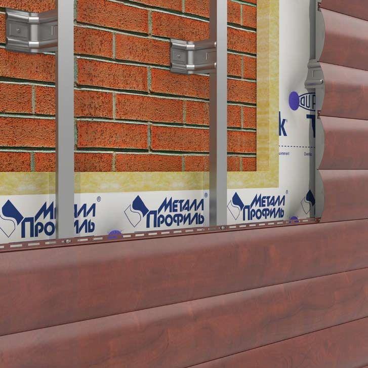 Способ монтажа сайдинга: обрешётка, утеплитель и непосредственно сам блок хаус
