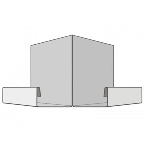 Закреплённая стартовая панель на углу дома. Участок который необходимо закрыть декоративным элементом в дальнейшем