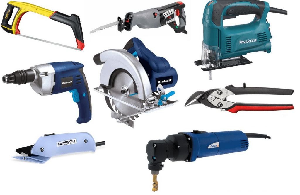 На фото представлены виды инструментов, с помощью которых можно разрезать различные металлические изделия