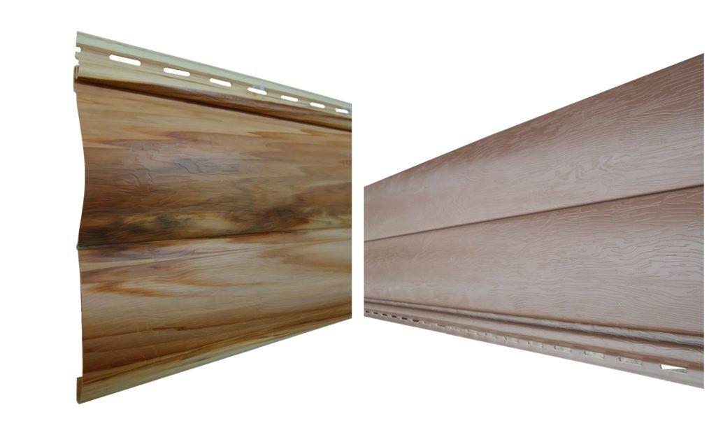 Виниловый полукруглый сайдинг блок-Хаус, наиболее популярен, так как его достоинства превышают положительные качества других отделочных материалов