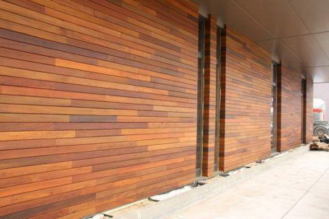 Деревянные панели.
