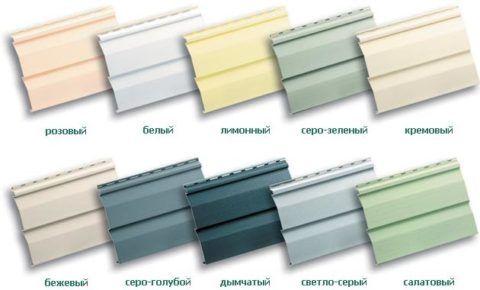 Цветовая палитра материала.