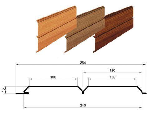 Для расчета необходимо знать размеры деревянного сайдинга.