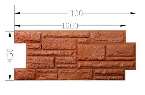 Цокольный вариант панелей отличается от фасадного размерами и фактурой