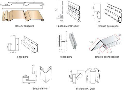 Основной набор фурнитуры для сайдинга