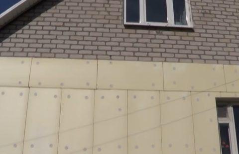 Монтаж пенополистирола на стену