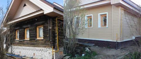 Сайдинг: обшивка старого дома своими руками - превращение в теремок