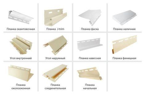 Среднестатистический набор комплектующих для сайдинга