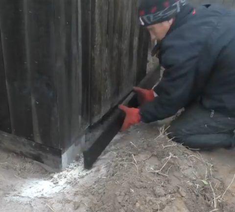Цокольная часть туалета