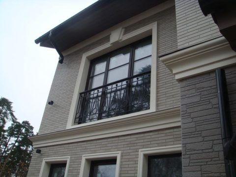 Фасад, облицованный керамосайдингом