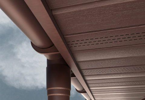 Использование софита для отделки строения