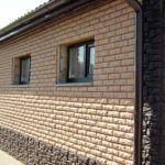Отделка фасада и цоколя фиброцементным сайдингом