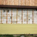 Обшивка стен из пеноблоков